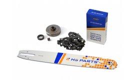 Schiene 40 cm + Kette 60 Glieder 3/8 1,6mm + Kettenrad Stihl MS361