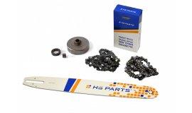 Schiene 45 cm + 2x Kette 66 Glieder 3/8 1,6mm + Kettenrad Stihl MS660