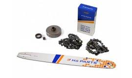 Schiene 50 cm + 2x Kette 72 Glieder 3/8 1,6 mm + Kettenrad Stihl MS660