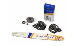 Schiene 45 cm + 2x Kette 66 Glieder 3/8 1,6mm + Kettenrad Stihl MS360
