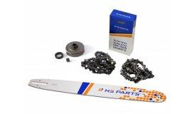 Schiene 50 cm + 2x Kette 72 Glieder 3/8 1,6 mm + Kettenrad Stihl MS360