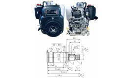 Motor ZONGSHEN NH150H 149cc 4,0 WELLE